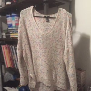 H&M V Neck Sweater, Multicolored, size L